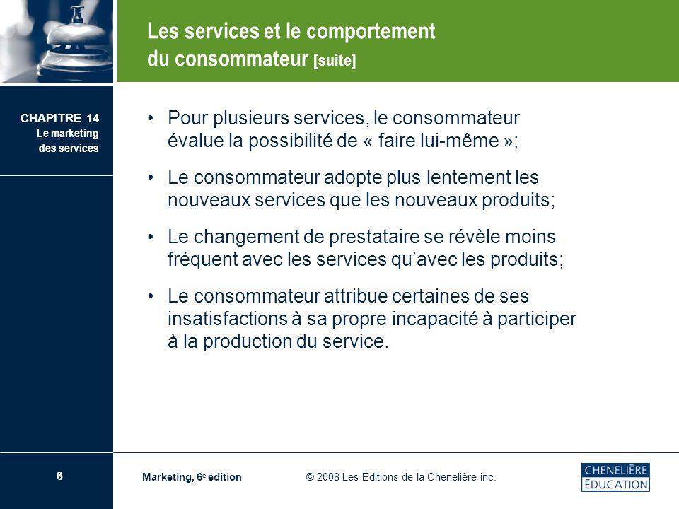 Les services et le comportement du consommateur [suite]